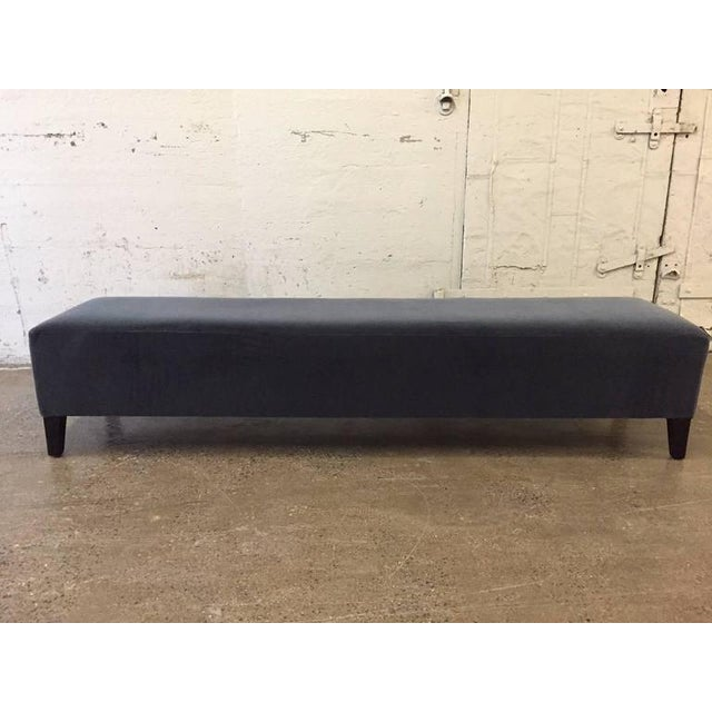 7 ft. Long Art Deco Upholstered Bench - Image 2 of 4