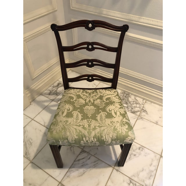 Wood Chippendale Style Ribbon Back Dining Chairs - Set of 6 For Sale - Image 7 of 11
