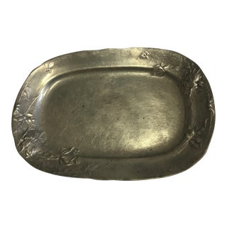 Vintage Kayserzinn Pewter Art Nouveau Tray For Sale