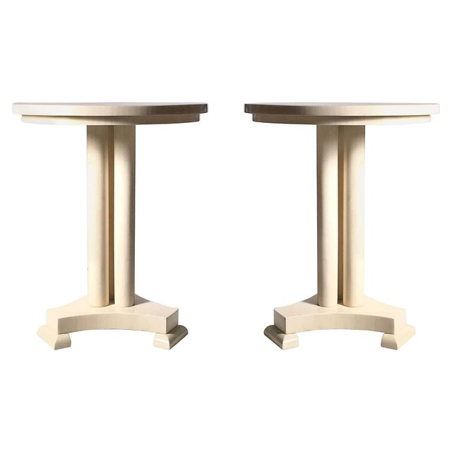 Classy Pair of Enrique Garcel Neoclassical Side Tables for Jimeco For Sale In Chicago - Image 6 of 6