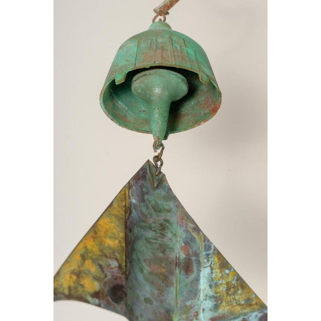 Mid-Century Modern Brutalist Bronze Wind Chime by Paolo Soleri For Sale - Image 9 of 12