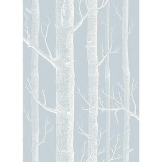 Cole & Son Woods Wallpaper Roll - Powder Blue For Sale