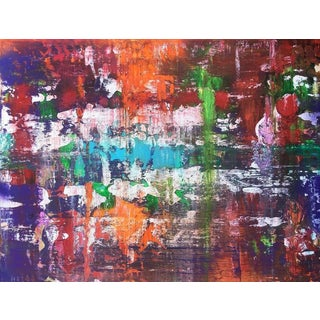 """Contemporary Abstract Oil Painting """"Drifting II"""" by Mirtha Moreno For Sale"""