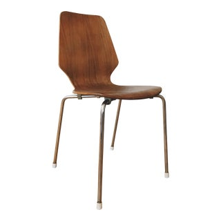 1960s Danish Modern Arne Jacobsen Style Bentwood Chair For Sale