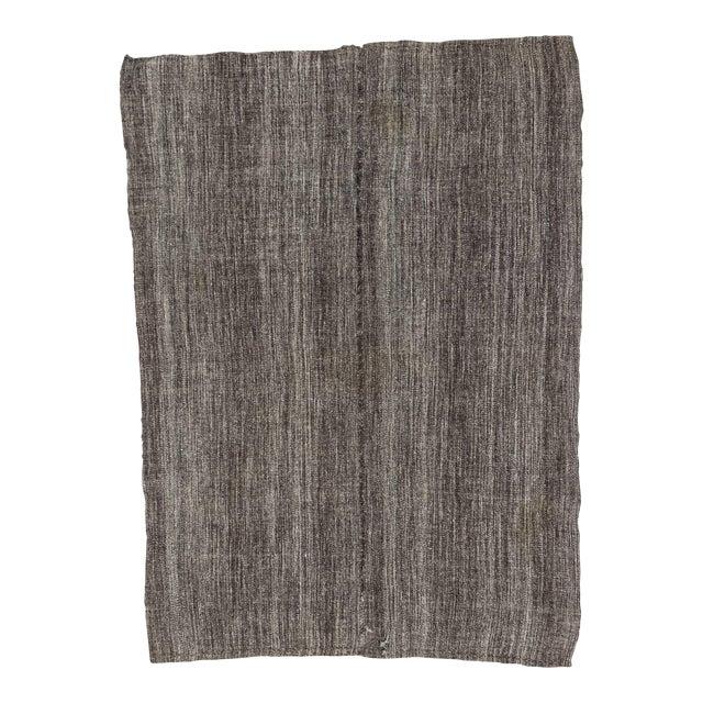 Dark Gray Vintage Kilim Rug - 5′6″ × 7′5″ For Sale