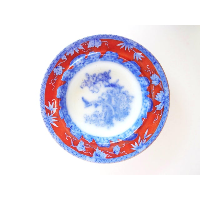 Victorian Early 19th Century Antique Mason's Staffordshire Flow Blue Dish For Sale - Image 3 of 10