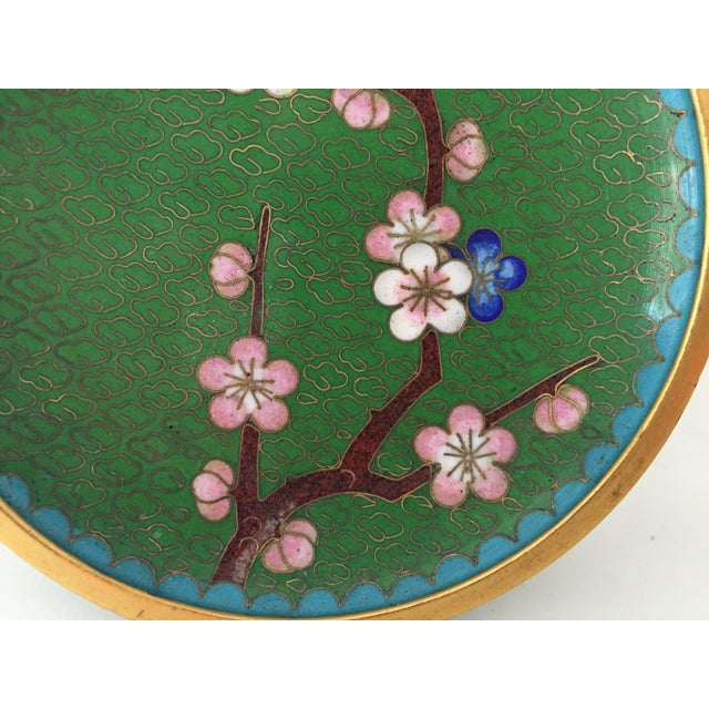 Small Green Cloisonne Dish - Image 4 of 6