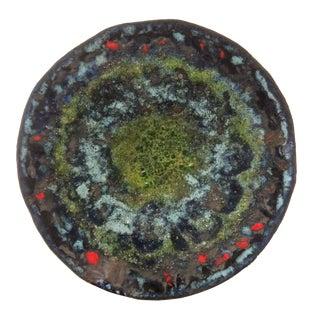 Mid-Century Enamel Glazed Copper Plate