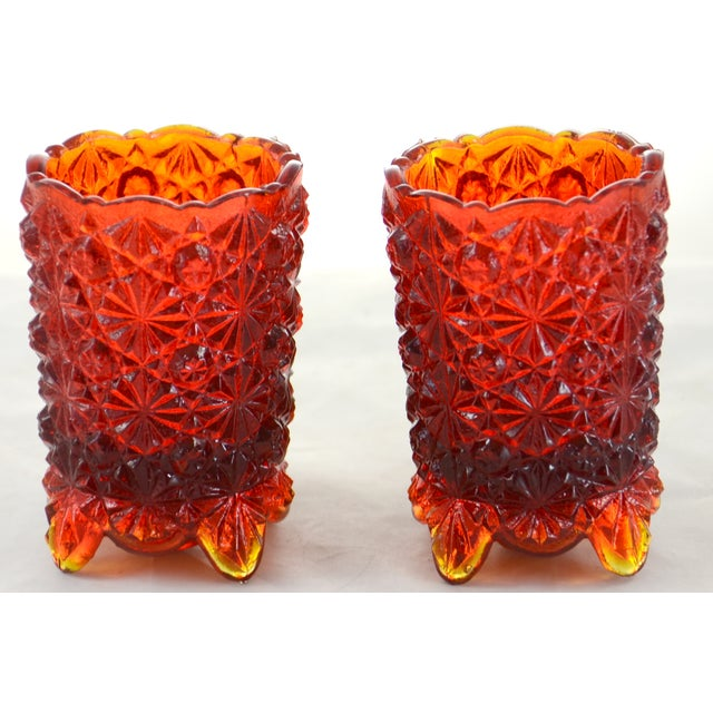 Red Ombre Candle Holders - A Pair - Image 4 of 4