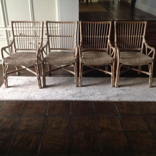 Rattan Dining Chairs - Set of 4 - Image 7 of 7