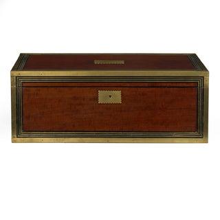 19th Century English Victorian Mahogany Writing Slope Desk W/ J. Bramah Locks Preview