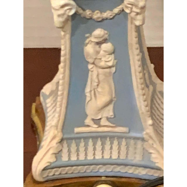 Ceramic Wedgwood Adam Style Ormolu Mounted Lamp For Sale - Image 7 of 11