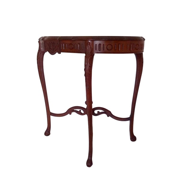 American Classical 1920s Weiman Heirloom Occasional Walnut Centre Table For Sale - Image 3 of 6