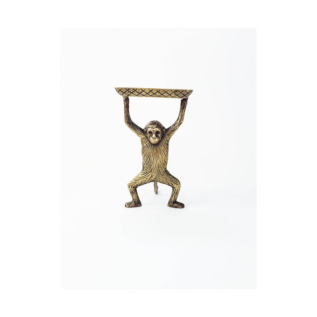 Vintage Brass Monkey Business Card Dish - Image 2 of 5