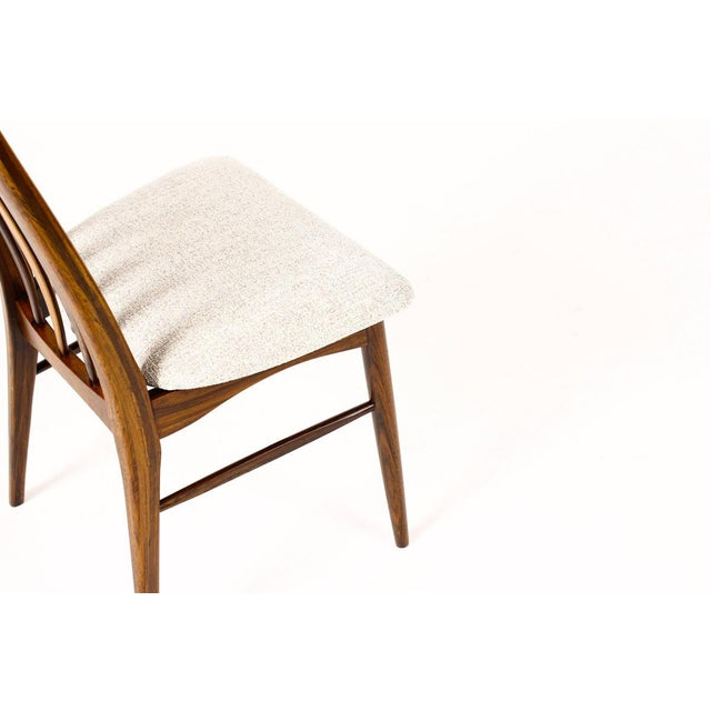 "Brown Danish Modern / Mid-Century ""Eva"" Dining Chairs — Niels Koefoed — Rosewood Frames — Set of 4 For Sale - Image 8 of 11"