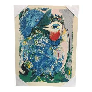 Large Marc Chagalll Lithograph 1943 Les Plumes en Fleurs For Sale