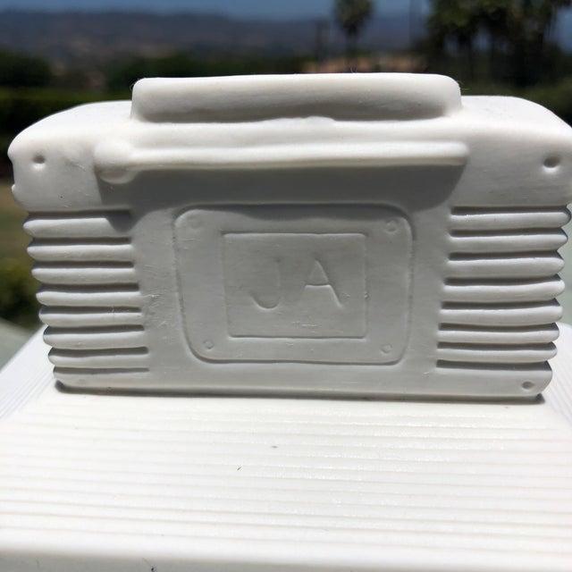 Mid-Century Modern Jonathan Adler Ceramic Boombox Match Holder For Sale - Image 3 of 8