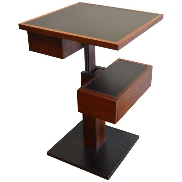 Brown Nightstand Side Table by Bernard Vuarnesson for Sculptures-Jeux in Paris, 1980 For Sale - Image 8 of 8