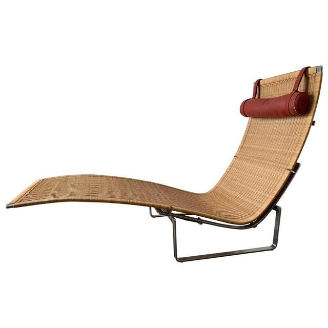 Poul Kjærholm Pk 24 Chaise Lounge With Wicker Seat for Fritz Hansen For Sale - Image 12 of 12