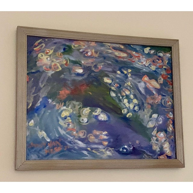 """""""Carpe Diem"""" Contemporary Abstract Oil Painting, Framed For Sale - Image 4 of 11"""