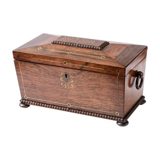 Regency tea caddy For Sale
