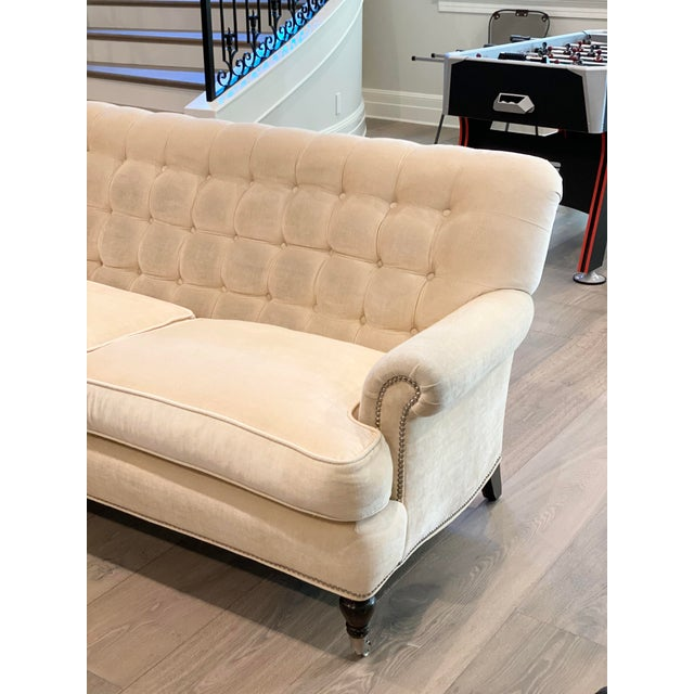 Zero major damage ....smoke , pet hair free home ...professional clean away from brand new couch ~castor silver wheels for...