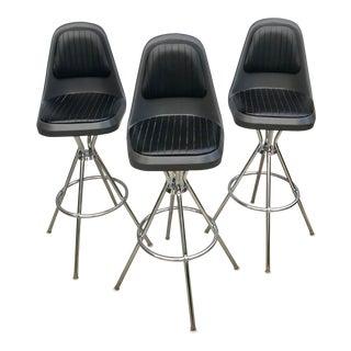 Mid Century Modern Comfortline Barstools - Set of 3 For Sale