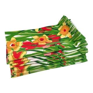 Vera Floral Vintage Dinner Napkins - Set of 8 For Sale