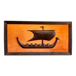Mid-Century Witco Style Viking Ship For Sale