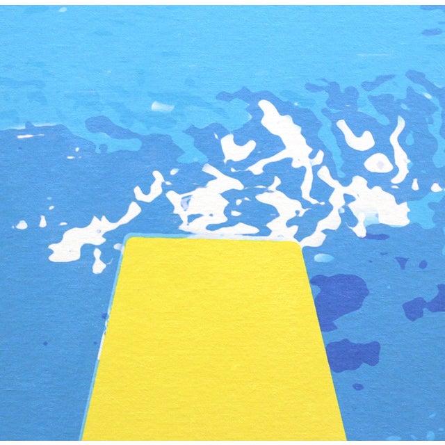 """Swimming Pool"" Acrylic Painting by Michael Giliberti - Image 5 of 10"
