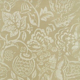 Sample - Schumacher Uccello Sisal Wallpaper in Sage For Sale