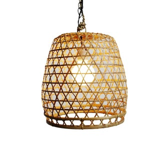 Flat Top Fish Basket Lantern Small For Sale