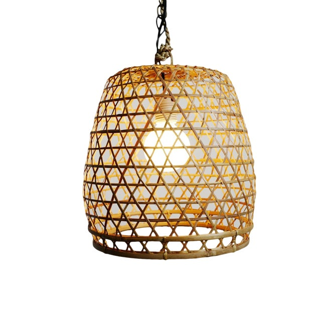 Flat Top Fish Basket Lantern Small For Sale