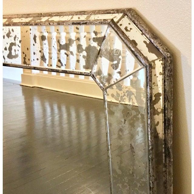 1930s Art Deco Silver Leaf Eglomisé Mirror For Sale - Image 4 of 6