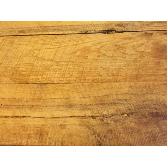 Rustic White Oak Dining Table and Bench - Image 6 of 6