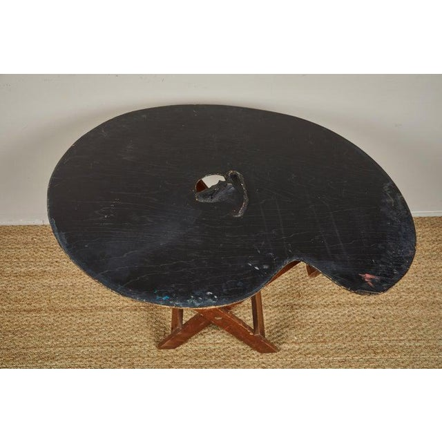 Americana Painters Palette Side Table For Sale - Image 3 of 5