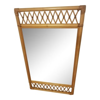 Ficks Reed Rattan Rectangle Mirror For Sale