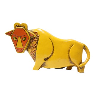 Japanese Modern Paper Mache Craft Bull Bank by Pride Creations For Sale