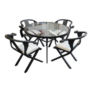 Late 20th Century James Mont Style HWR Patio Set-Set of 5 For Sale