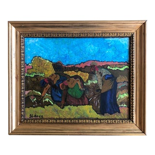 Charles Sebree Original Painting Circa 1950 For Sale