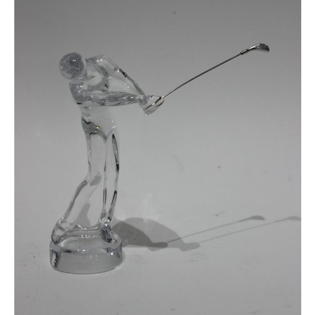 Baccarat Crystal Golfer Figurine For Sale - Image 9 of 9