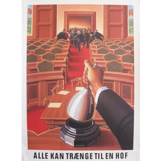 1980s Danish Modern Carlsberg Beer Ad, Courtroom For Sale