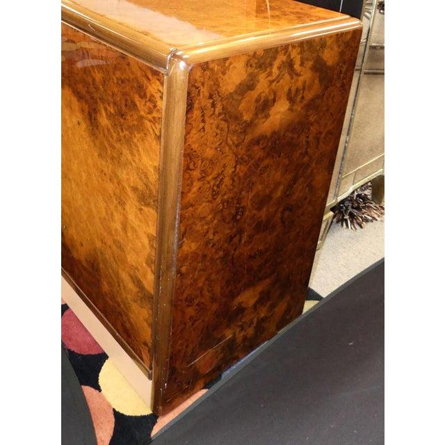 Roche Bobois Vintage Roche Bobois Lacquered Burl Wood Credenza For Sale - Image 4 of 12