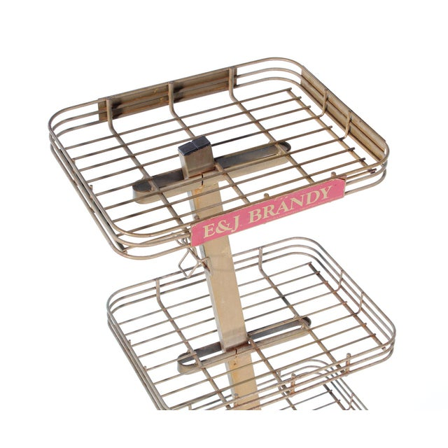 Metal E&j Brandy Advertising Stand For Sale - Image 7 of 13
