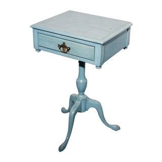 Antique Shabby Chic Painted Federal Nightstand