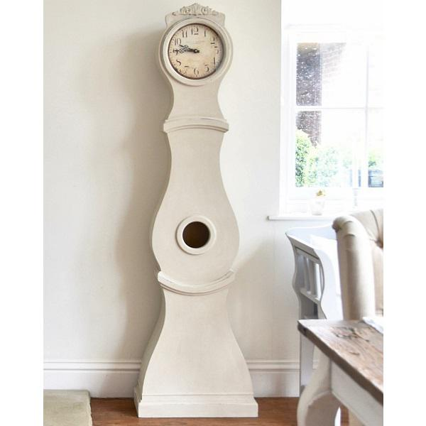 Hand Painted Antique White Mora Clock Reproduction For Sale - Image 4 of 7