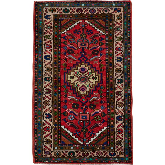 """Vintage Persian Hamadan Rug – Size: 2' 3"""" X 3' 10"""" For Sale - Image 4 of 4"""