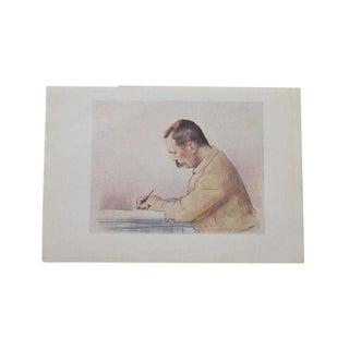 Arthur Conan Doyle Portrait Lithograph