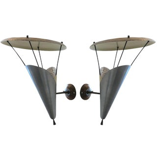 Pair of French Modern Wall Sconces by Jacques Biny