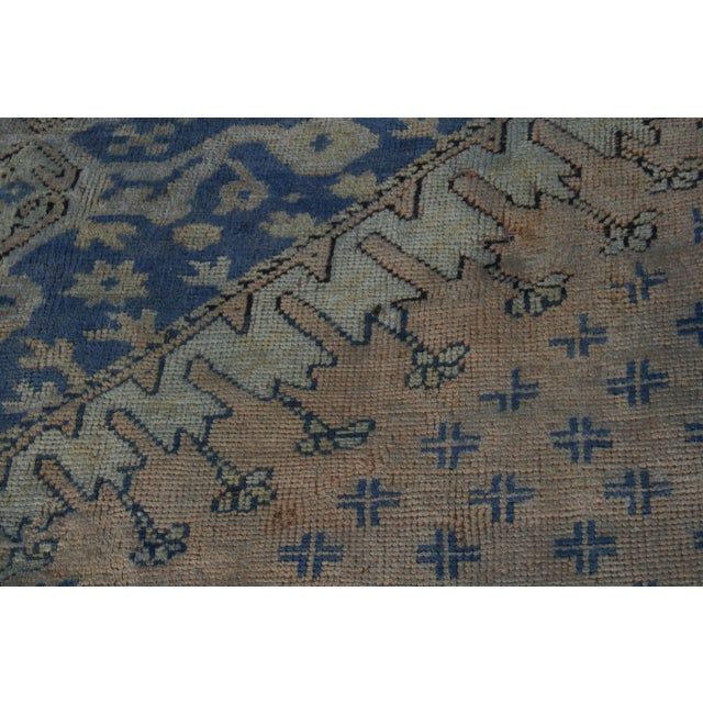 Early 20th Century Antique Oushak Waterloo Design Rug - 11′9″ × 15′5″ For Sale - Image 11 of 13